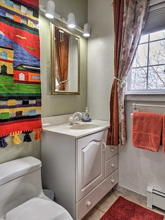 Rise and shine with refreshing showers in the full bathroom.
