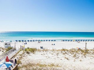 NEW ! Beach Front at Pelican, Great Gulf/Beach Views from Balcony, Pools