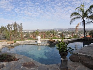 Amazing views, heated salt water pool on an acre of secluded property!