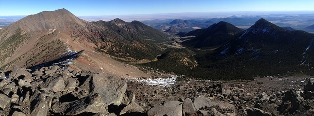 A view from the top. Ask about how to make a go for the highest point in Arizona