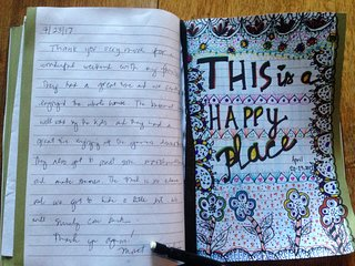 One of our guests hand-written notes from the guestbook. We love it when kids agree!