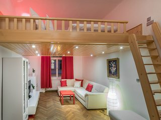 In the center of Prague with Internet, Air conditioning, Balcony, Washing machin