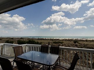 Sit back and watch waves roll in from the two decks overlooking the ocean
