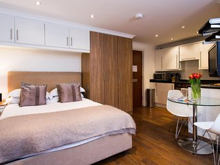 Luxury Studio for 2 guests, Free Cleaning 5-days a week, Free WiFi