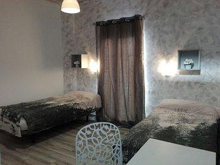 Céntrico, renovado dormitorio de 2 camas con baño privado