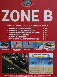 beach activities at Zone B