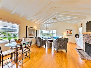 Beach Cottage w/ Ocean Views, Hot Tub, Walk to Beach & Town