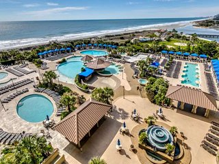 JUNE DISC! 2.5Acre Pool Complex,Fitness/Spa, WIFI Oceanfront N Beach Towers Cond