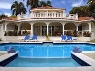 Beautiful seven bedroom villa with private pool in the Caribbean.