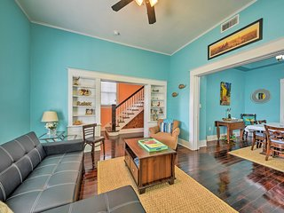 Renovated Galveston Home w/Yard 4 Blocks to Beach!