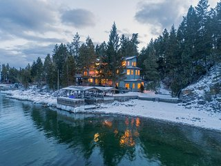 Lakefront retreat w/ great water views, private hot tub, sauna, & dock! Dogs OK!