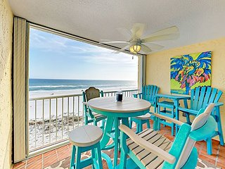 5th-Floor Beachfront Castaways 2BR w/ Pool, Gulf Views & Private Beach Access