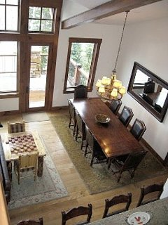 Dining area with vaulted ceiling at our Larkspur Deer Valley home