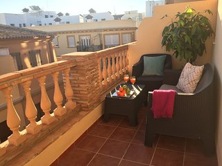 Apartment in the center of Málaga with Internet, Air conditioning, Lift, Terrace