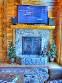 Gas Fireplace with Smart TV