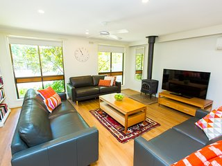 Light filled spacious living area.  Wide screen TV.  Perfect for friends and family