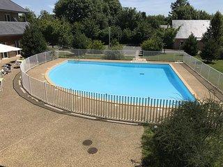 Au petit bonheur de Honfleur - studio avec vue sur piscine