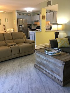 A comfortable Condo Set up for relaxing before or after your Myrtle Beach Excursions