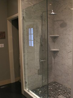 Master Bath with Large Marble Walk-In Shower