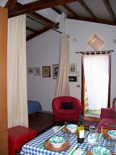 inside the Cottage by Lake Bracciano