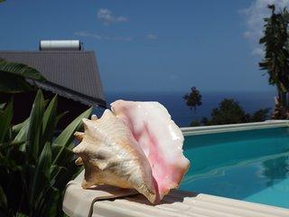 Vue sur la mer des Caraïbes, Les Villas de TiSource 3*