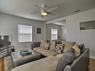 Relax on the comfortable sectional sofa in the living room.