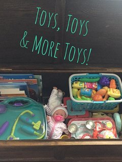 Toy chest for our younger guests. We have lots of DVDs too for the whole family!
