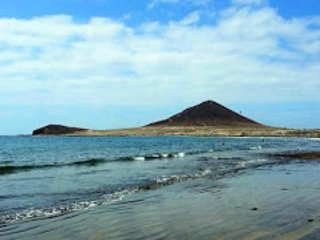 Medano Beach with Red Mountain in the background