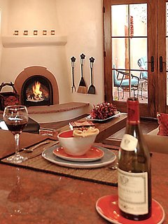 A nice cozy fire with a glass of wine can make for a wonderful evening.