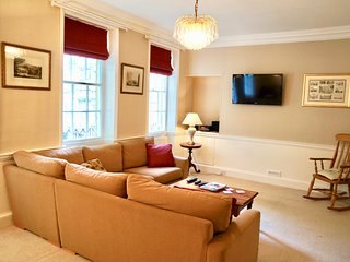 Living Room - 40' Sony TV, Ipod Dock and Hi-Fi, DVD collection, board games, library