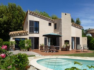 Charming provencal villa with private saltwater pool on secured domain.