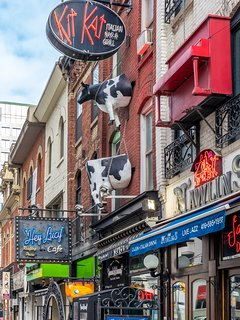 Iconic restaurants on King West, across from TIFF