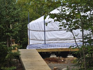 The White Moon Yurt at Cabot Shores