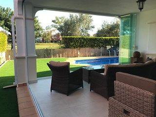 Front line golf, South facing, detached villa with private pool, WiFi, aircon.