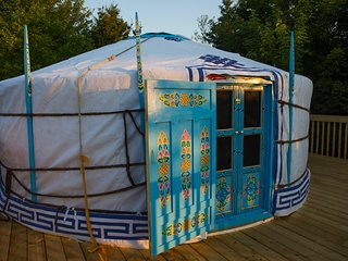 The Big Sky Blue Yurt at Cabot Shores