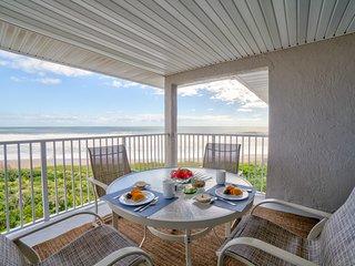 Breakfast on the balcony.