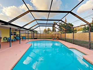 Piece of Paradise: 3BR w/ Screened-In Pool & Patio, Near Indian Rocks Beach
