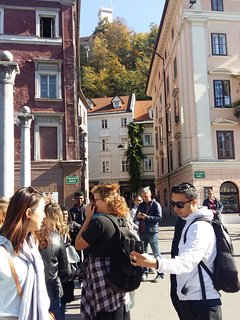 Under Ljubljanski grad on the shoemakers bridge