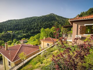 Deluxe Residence with Panoramic View in Taygetus Mountain
