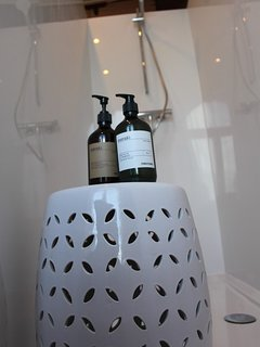 Only  quality amenities are used : from bedlinen, bathrobes and soaps and lotions.