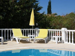 Villa, private pool, hillside location, sea breezes and great sunsets. Sleeps 8