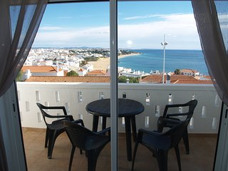 Balcony with panoramic view over the bay at Albufeira