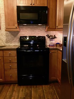 Microwave and electric stove
