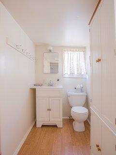 Bathroom with Plenty of Towels.