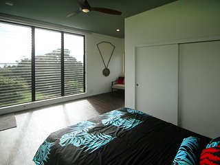 Watch the whales from your bed!  9'x9' window overlooking the cacao & ocean for beautiful sunrises.