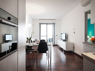 One-bedroom apartment in a new building near Corso Sempione in Milan