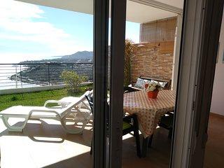 Terraza jardín 40 m2 frente al mar y la sierra Piscina Garaje privado, Peñíscola