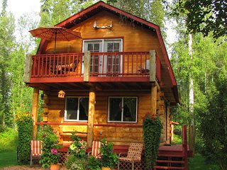 Gorgeous Log Cabin On The River-2 bdrm. 1.5 bath, full kitchen, incredible views