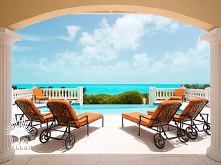 Sandy Beaches 5BR Villa on Long Bay Beach with Unending Turquoise Views!