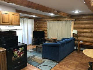 Authentic Alaskan log home lower suite